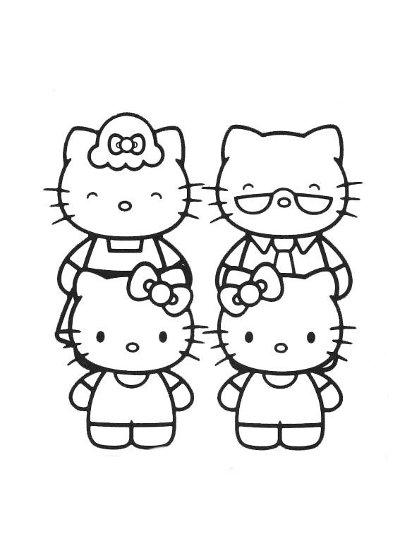 Hello kitty  mit familie-2