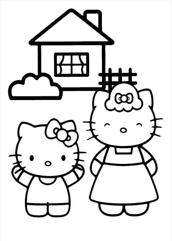 Hello kitty  mit familie-3