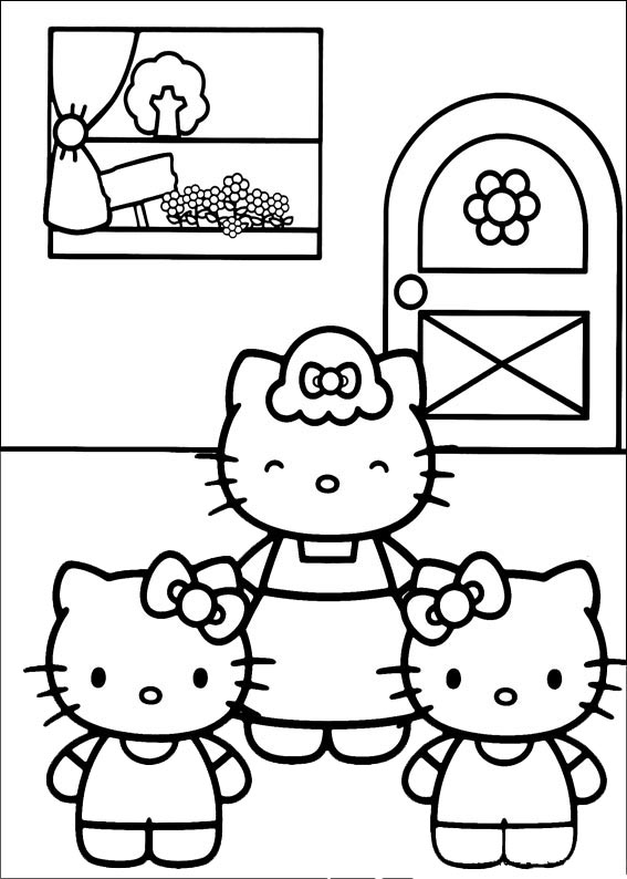 Hello kitty  mit familie-5