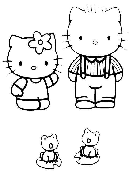 Hello kitty  mit familie-7