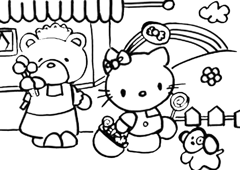 Hello kitty  mit familie