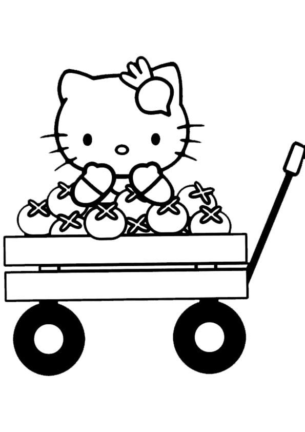 Malvorlagen-Ausmalbilder, Hello Kitty-53