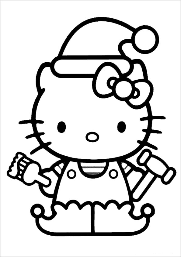 Ausmalbilder Hello Kitty  70