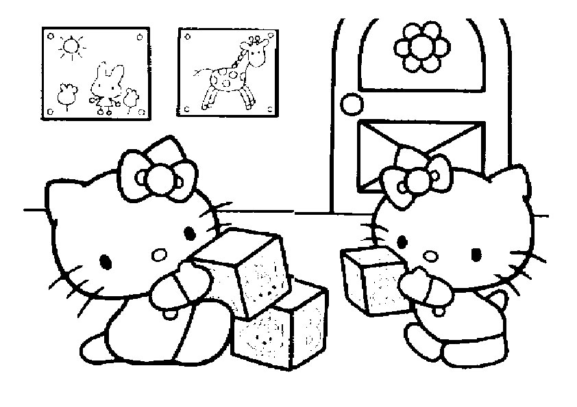 Ausmalbilder Hello Kitty 16