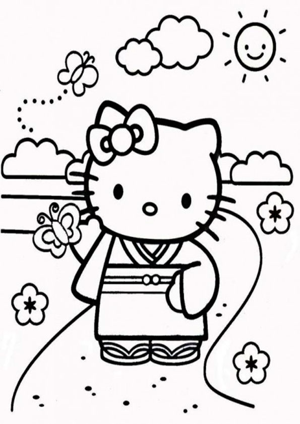 Ausmalbilder Hello Kitty-90