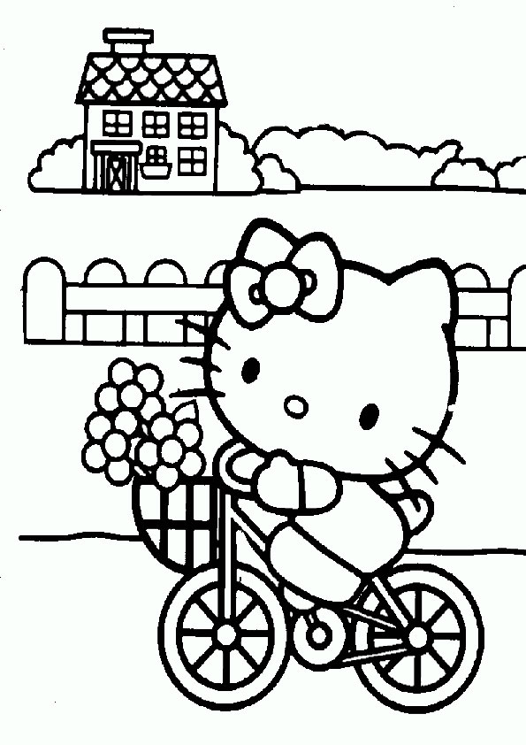 Ausmalbilder Hello kitty- 77