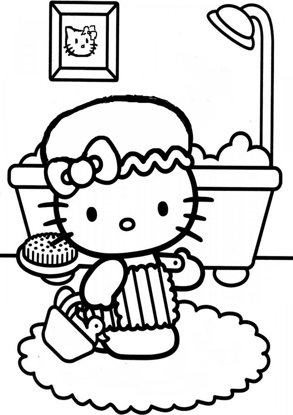 Ausmalbilder Hello kitty- 78