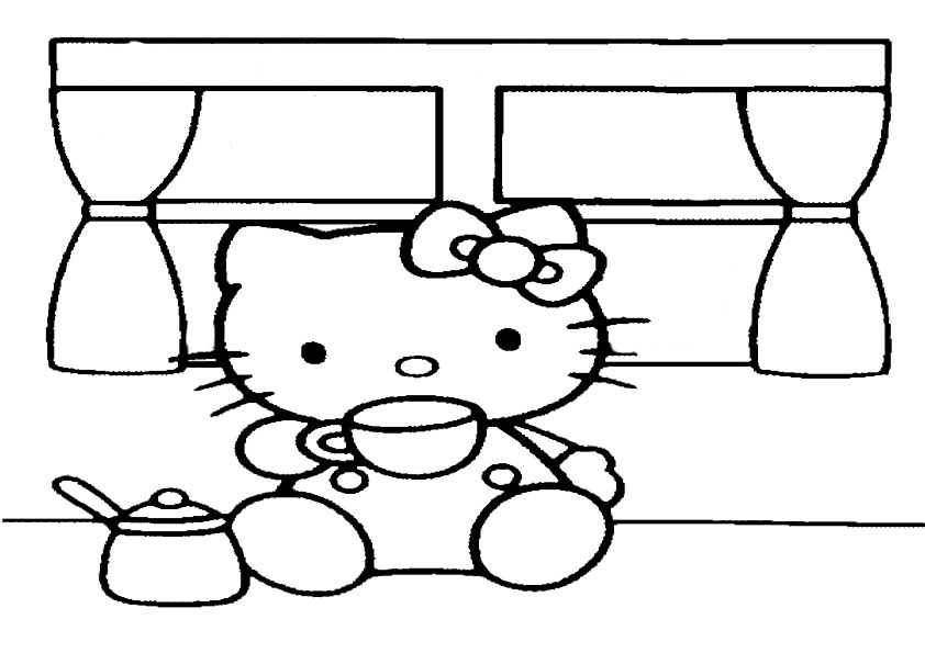 Ausmalbilder Hello kitty 82