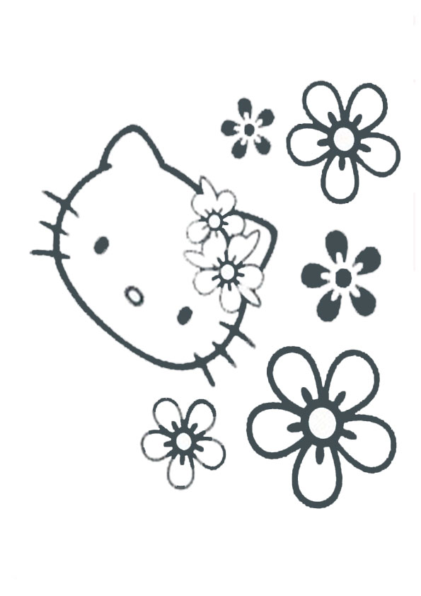 Ausmalbilder Hello Kitty-93