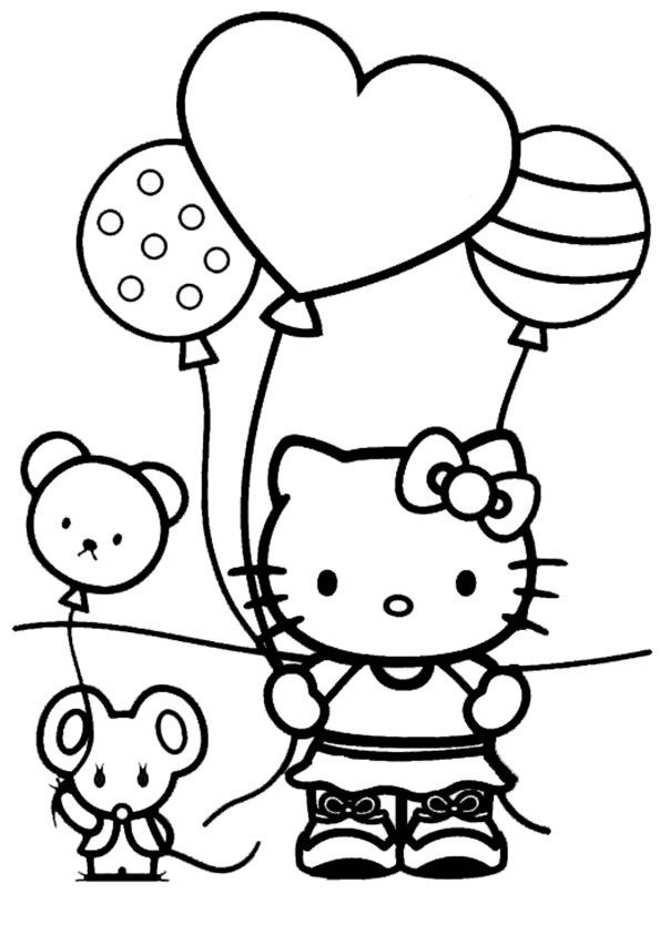 ausmalbilder hello-kitty-120 | Ausmalbilder Hello Kitty