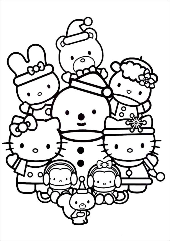 Ausmalbilder Weihnachten Hello kitty-14
