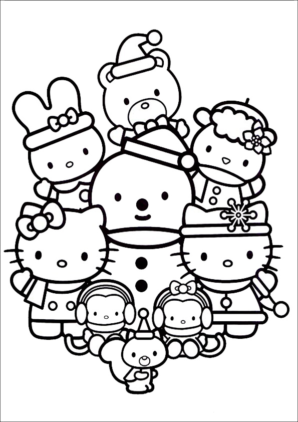 Ausmalbilder Weihnachten Hello kitty14  Ausmalbilder Hello Kitty