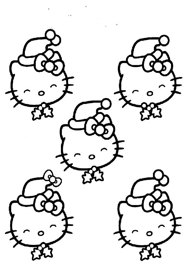 Ausmalbilder Weihnachten Hello kitty-16