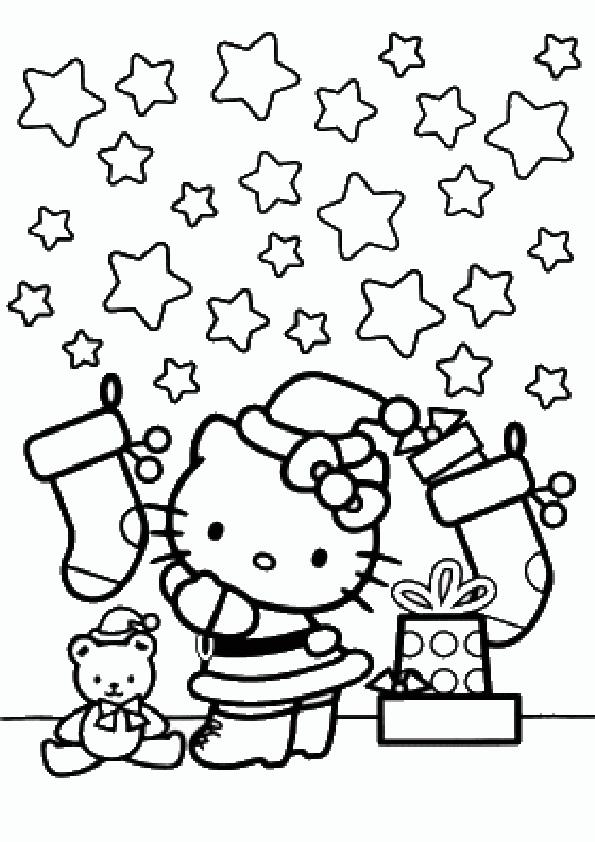 Ausmalbilder Weihnachten Hello kitty-21 | Ausmalbilder Hello Kitty
