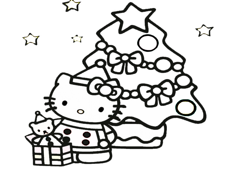 Ausmalbilder Weihnachten Hello kitty-6 | Ausmalbilder Hello Kitty