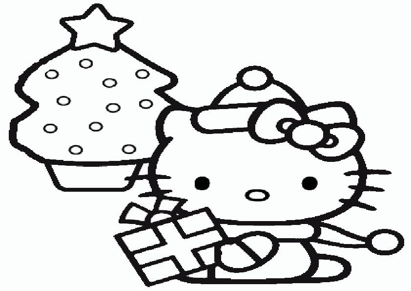 Ausmalbilder  Weihnachten Hello kitty-7y
