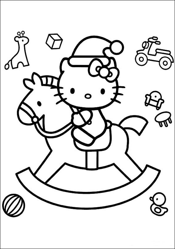 Ausmalbilder Weihnachten Hello kitty-8