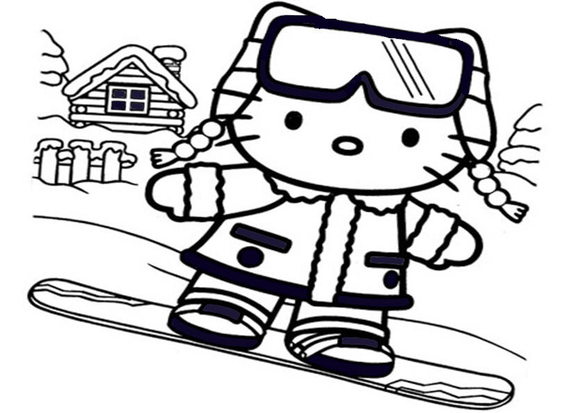 Ausmalbilder Hello kitty-123 | Ausmalbilder Hello Kitty