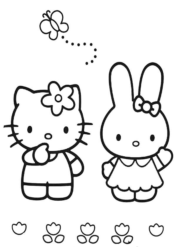 ausmalbilder hello kitty mit kathy-2
