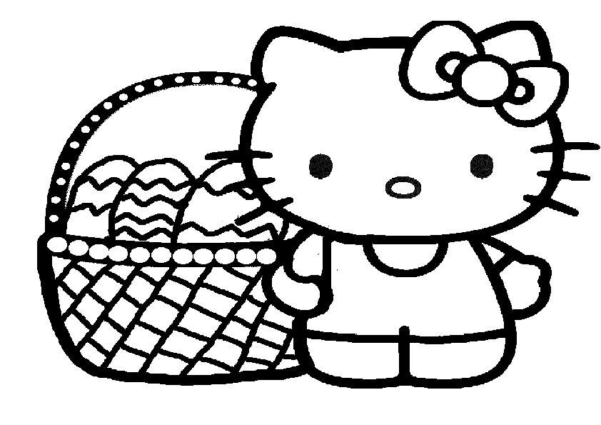 ausmalbilder ostern hello kitty-6 | Ausmalbilder Hello Kitty