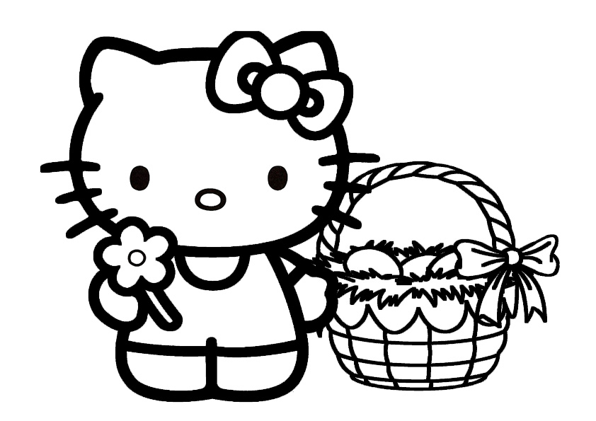ausmalbilder ostern hello kitty-7 | Ausmalbilder Hello Kitty