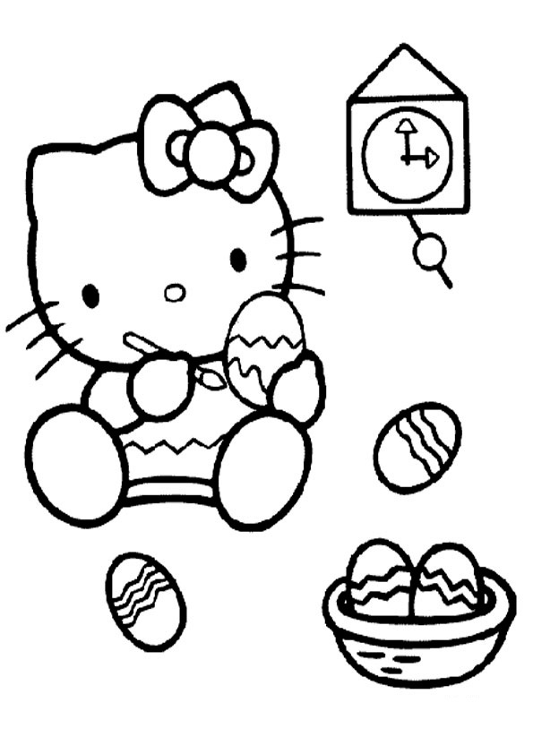 ausmalbilder hello kitty-2 | Ausmalbilder Hello Kitty