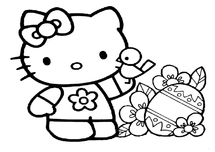 ausmalbilder hello kitty3  Ausmalbilder Hello Kitty