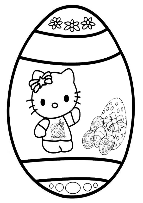 ausmalbilder ostern hello kitty-4 | Ausmalbilder Hello Kitty