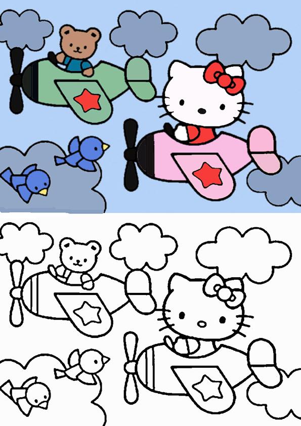 ausmalbilder hello kitty malen modell -2