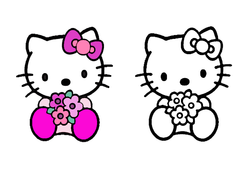 ausmalbilder hello kitty malen modell -4
