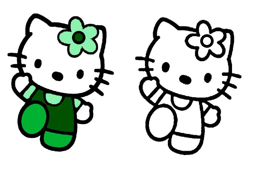 ausmalbilder hello kitty malen modell -6