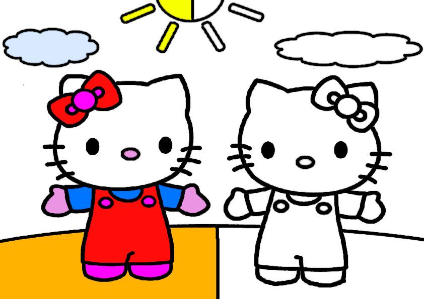 ausmalbilder hello kitty malen modell -8