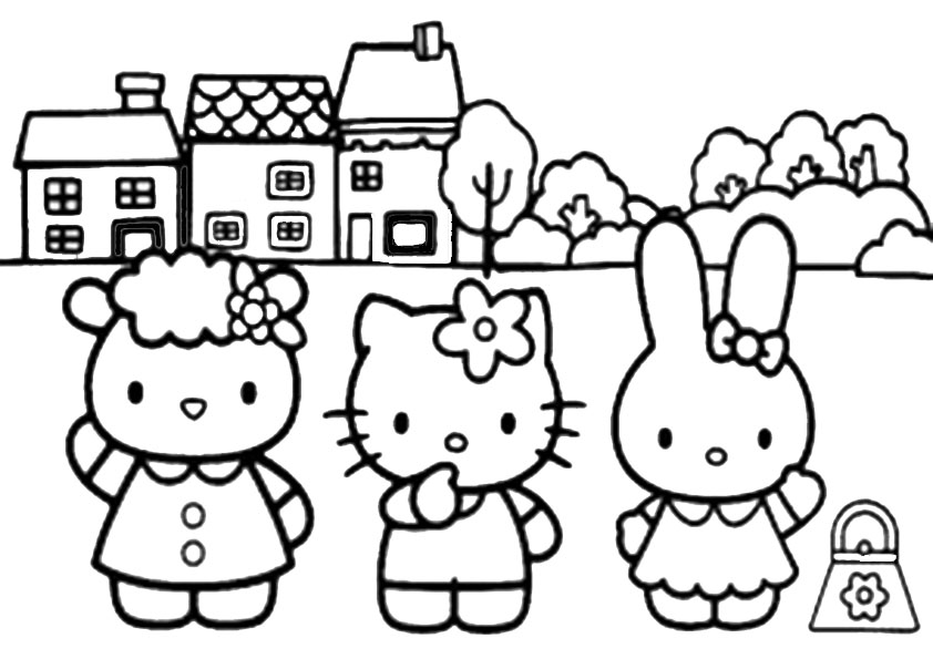 ausmalbilder hello kitty-6
