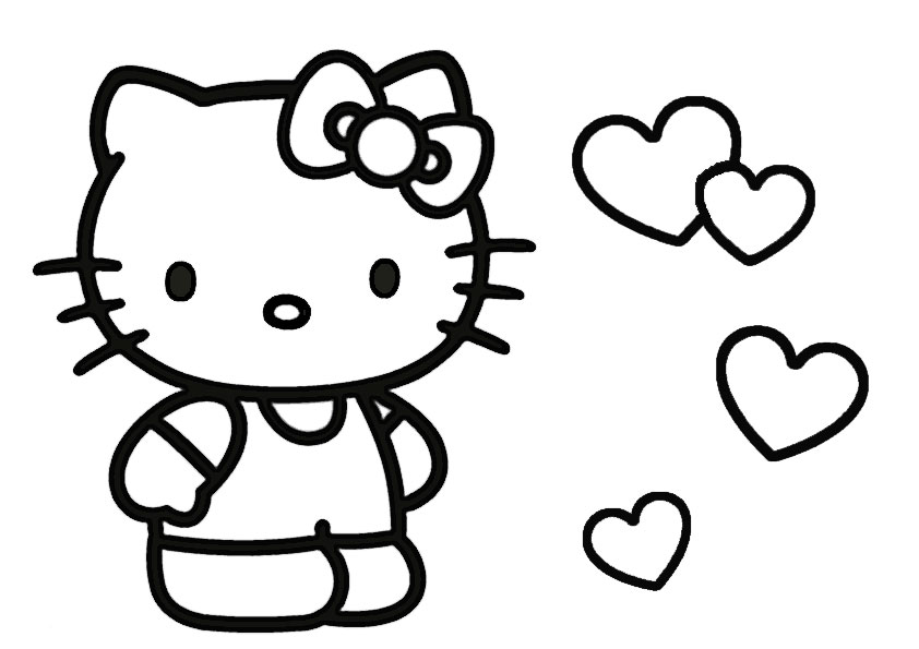 ausmalbilder hello kitty-201 | Ausmalbilder Hello Kitty