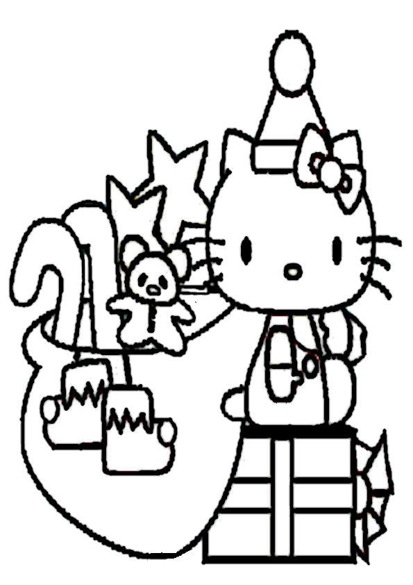 ausmalbilder  weihnachten hello kitty-29