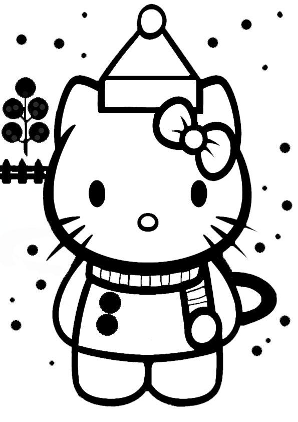 ausmalbilder weihnachten hello kitty-30