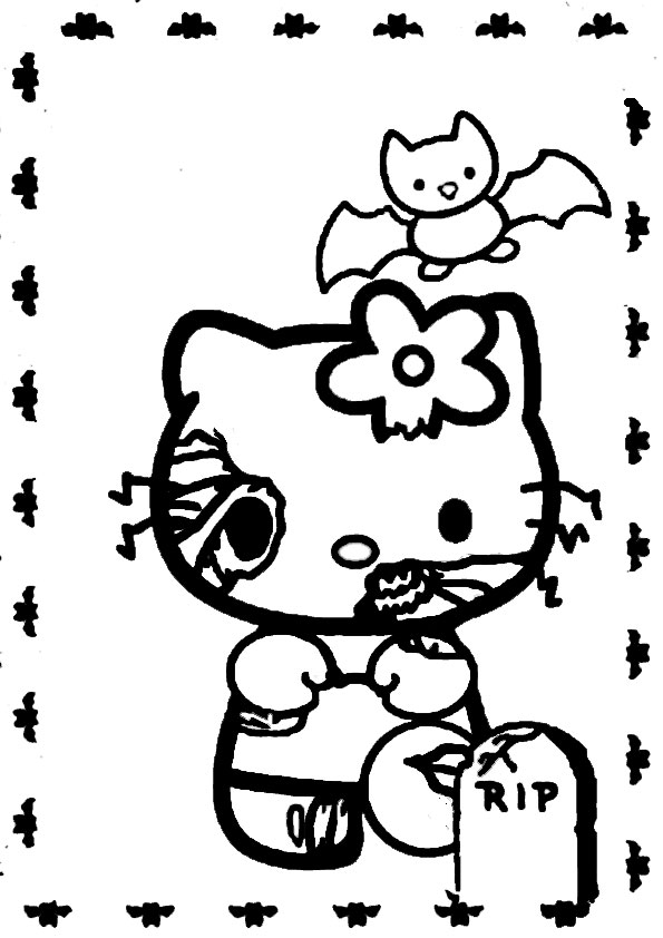 ausmalbilder halloween hello kitty-12