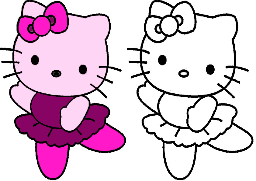 hello kitty zum malen