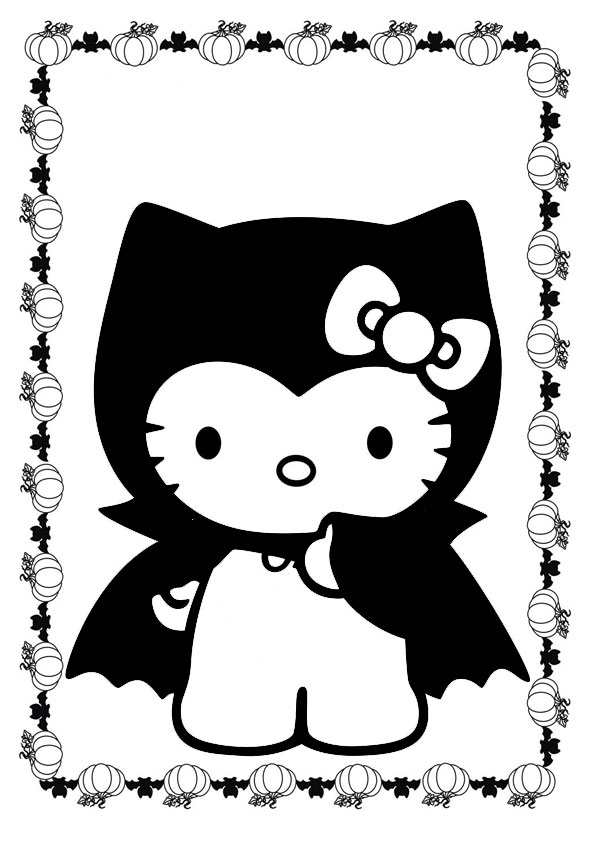 ausmalbilder halloween hello kitty-14