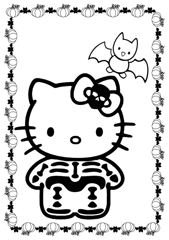 ausmalbilder halloween hello kitty-15