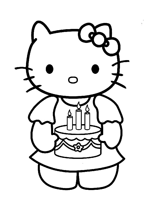 ausmalbilder geburstag hello kitty-13
