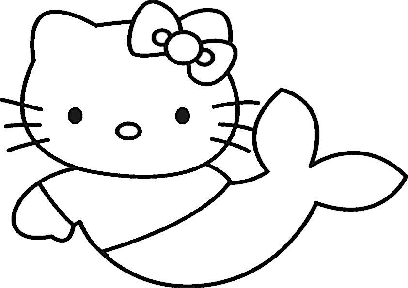 meerjungfrauen-2 | Ausmalbilder Hello Kitty