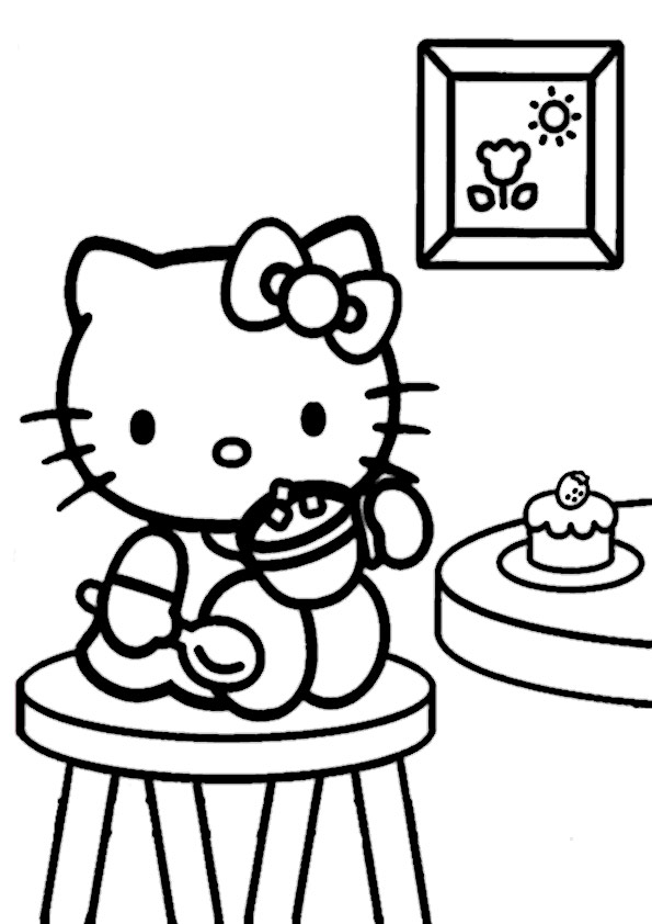 ausmalbilder hello kitty-286