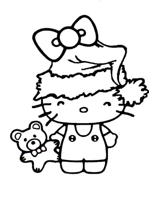 ausmalbilder  weihnachten hello kitty-34