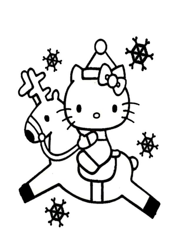 ausmalbilder  weihnachten hello kitty-35