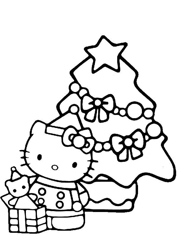 ausmalbilder weihnachten hello kitty-36