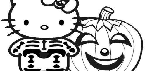 ausmalbilder halloween hello kitty-16