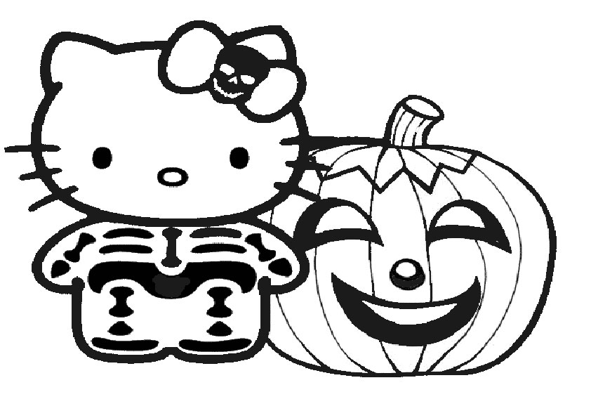 ausmalbilder halloween hello kitty-16