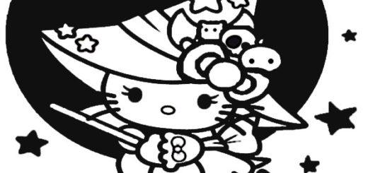 ausmalbilder halloween hello kitty-18