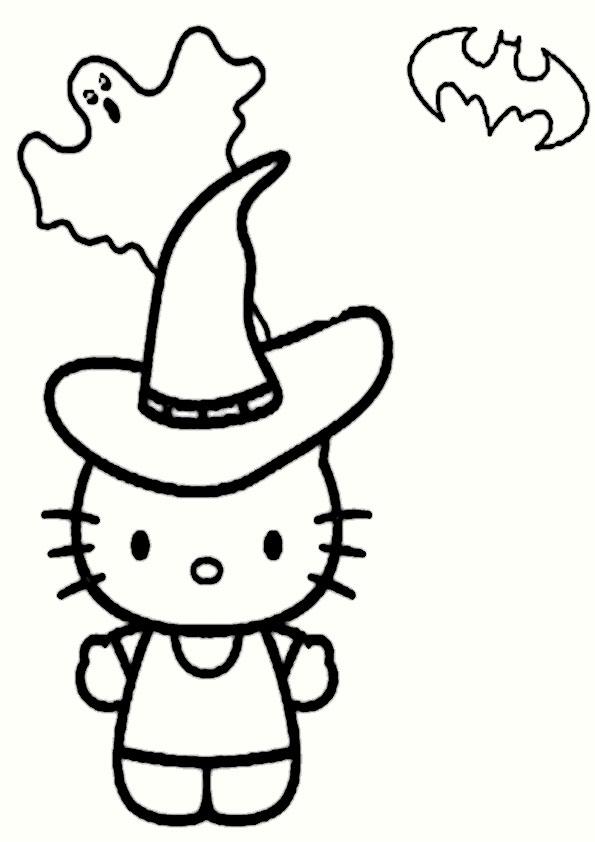 ausmalbilder halloween hello kitty-21